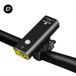ROCKBROS - lampka rowerowa aluminiowa przednia ładowana przez USB model V9C 400B UPGRADE
