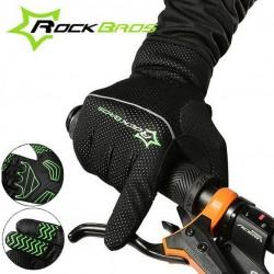 ROCKBROS - Rękawice rowerowe pełne termiczne wiatro odporne RB-S066