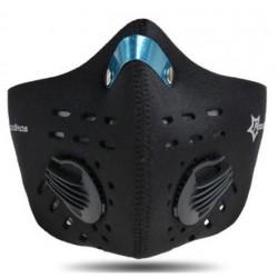 Maska antysmogowa z filtrem węglowym LF024 Czarna