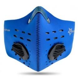 Maska antysmogowa z filtrem węglowym LF024 Niebieska