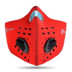 Maska antysmogowa z filtrem węglowym LF024 Czerwona
