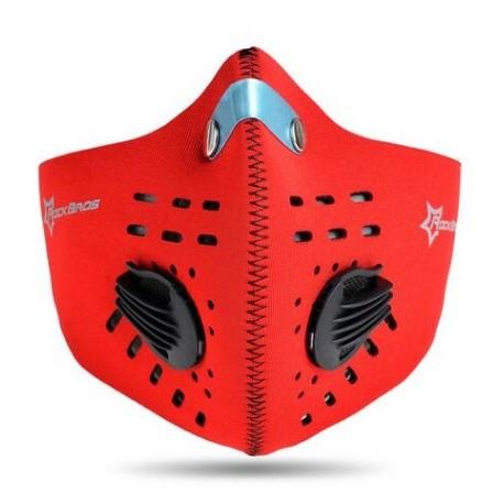 ROCKBROS - Maska antysmogowa z filtrem węglowym LF024 Niebieska